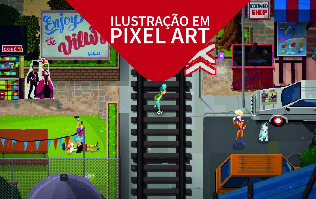 Ilustração em Pixel Art